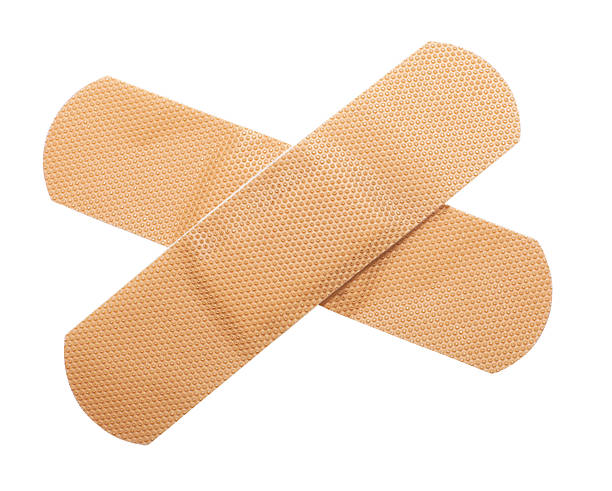 2 bandages stacked vertically in a symbol of medic stock photo