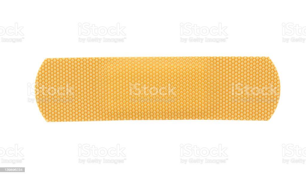 bandaid stripe on pure white background royalty-free stock photo