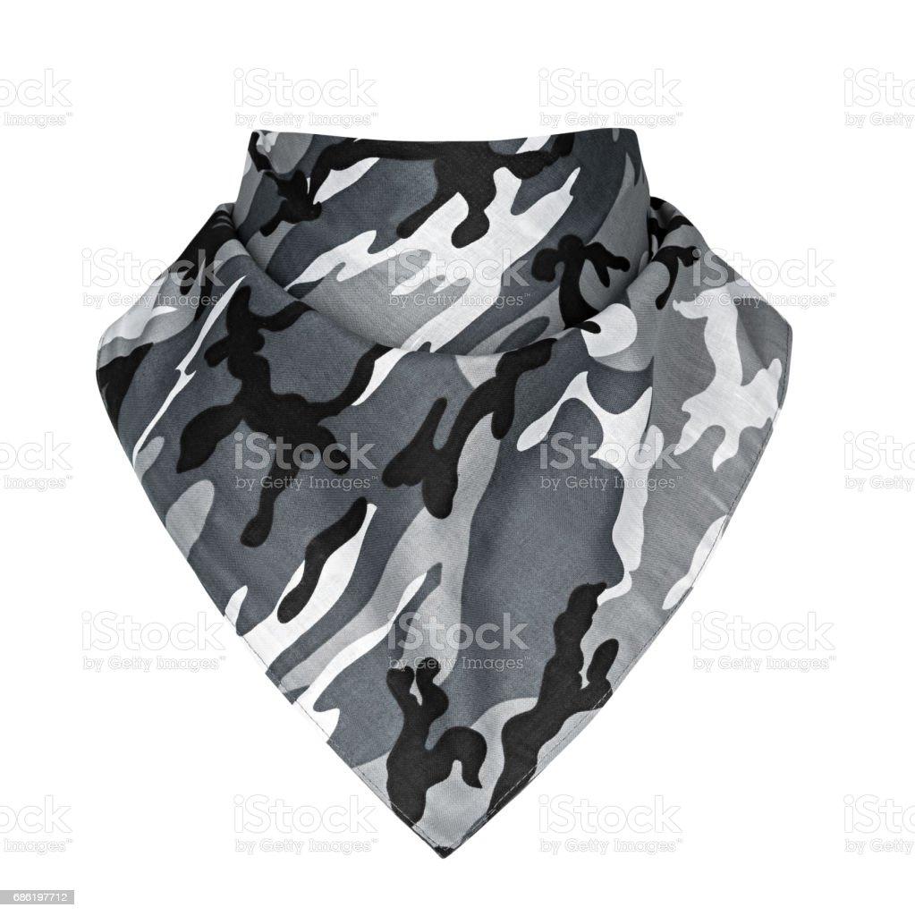 bandana, white background stock photo