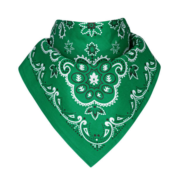 bandana, white background stock photo