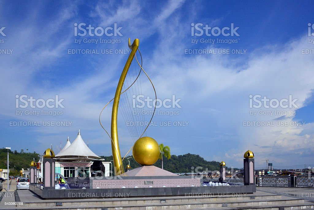Bandar Seri Begawan, Brunei: Mercu Dirgahayu 60 Monument stock photo
