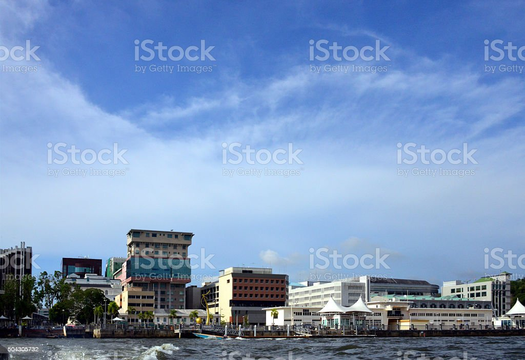 Bandar Seri Begawan, Brunei - skyline stock photo