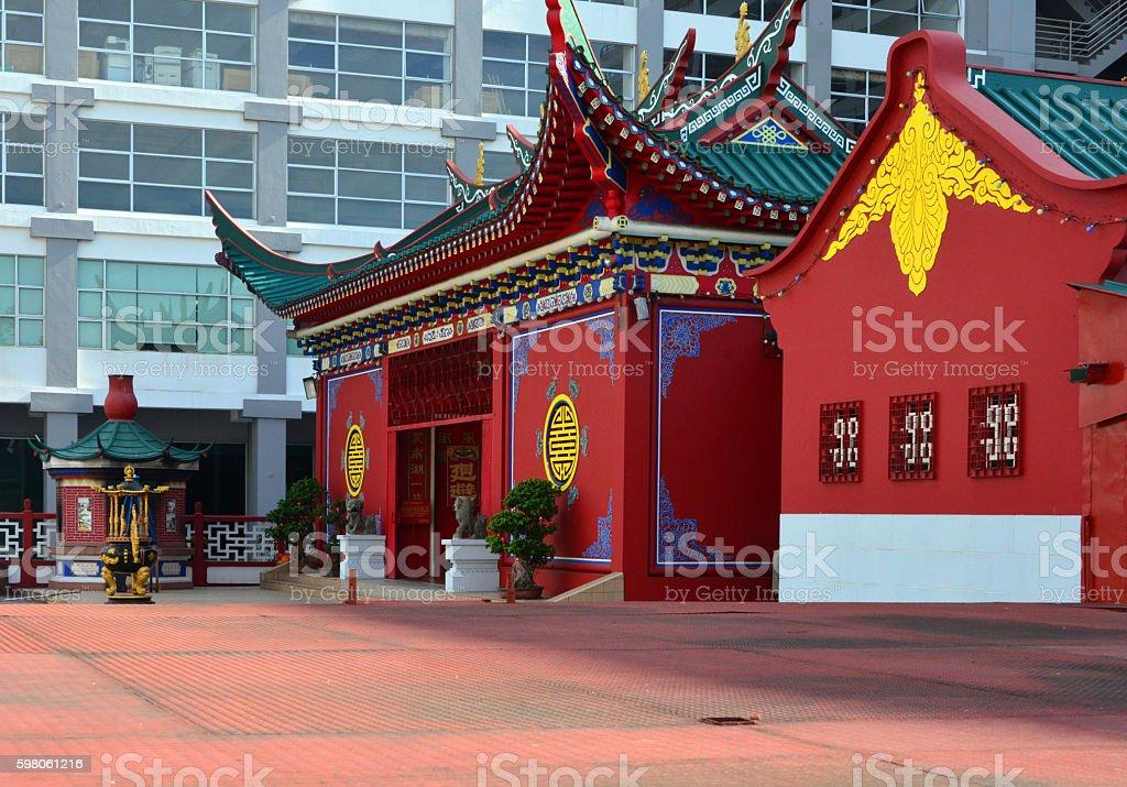 Bandar Seri Begawan, Brunei: Tiang Yun Dian Chinese Temple stock photo