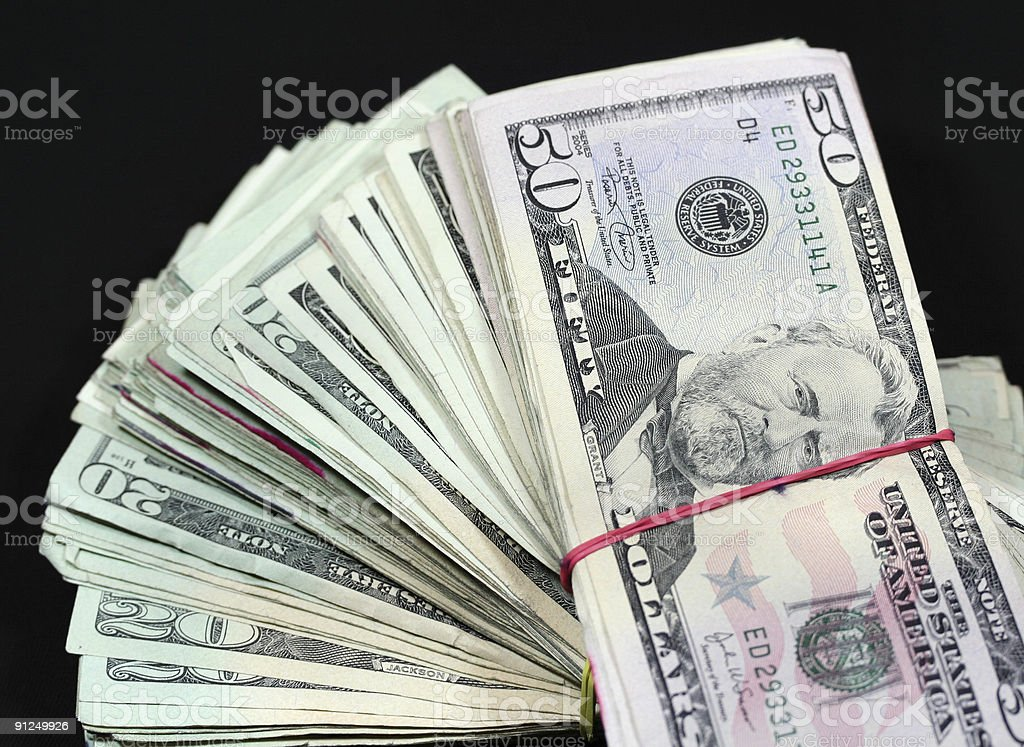 Banded Money royalty-free stock photo