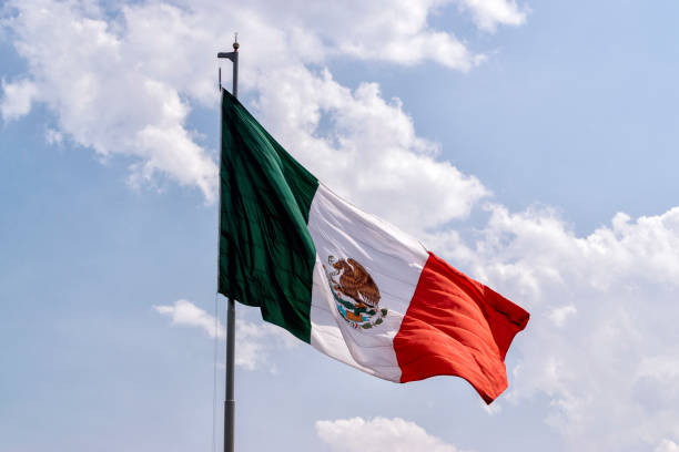 Bandeira mexicana - foto de acervo