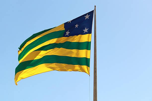Bandeira Bandeira do estado de Goiás. goias stock pictures, royalty-free photos & images