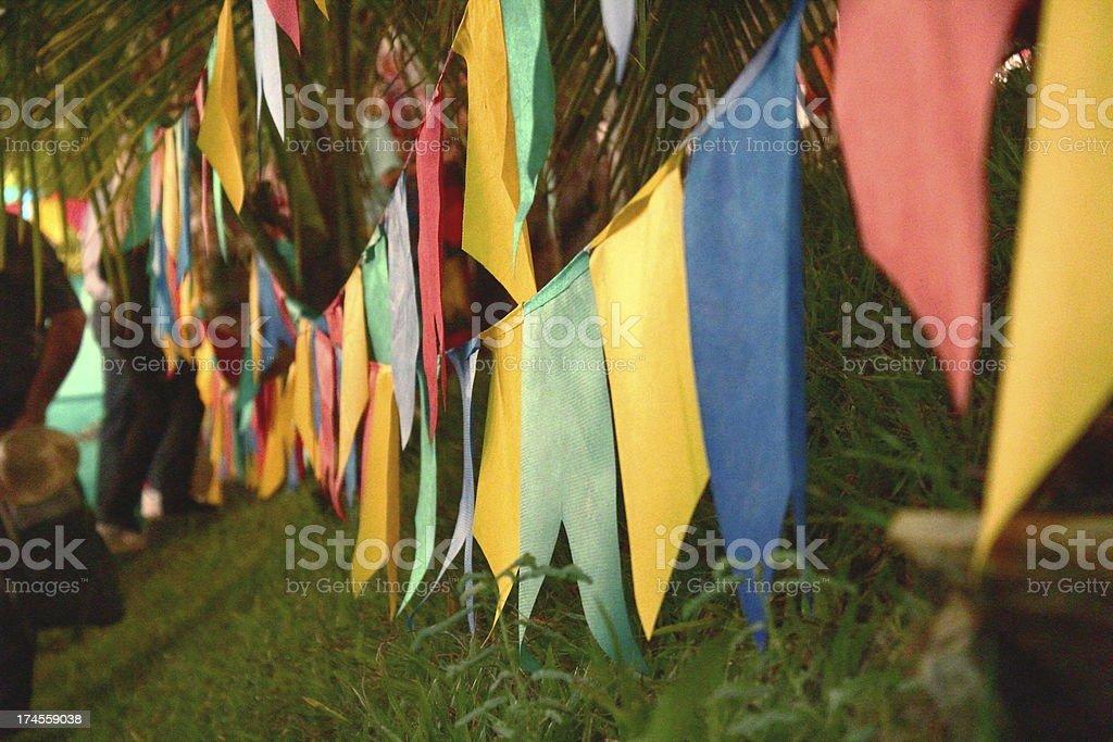 Bandeiras, festa junina, Brasil - foto de acervo