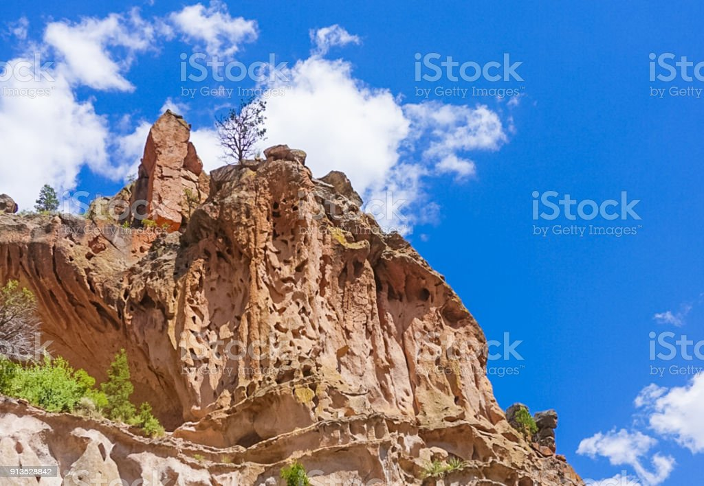 Bandelier National Monument Park in Los Alamos, New Mexico stock photo
