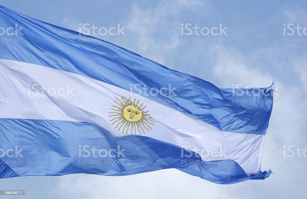 Bandera Argentina Celeste y Blanca stock photo