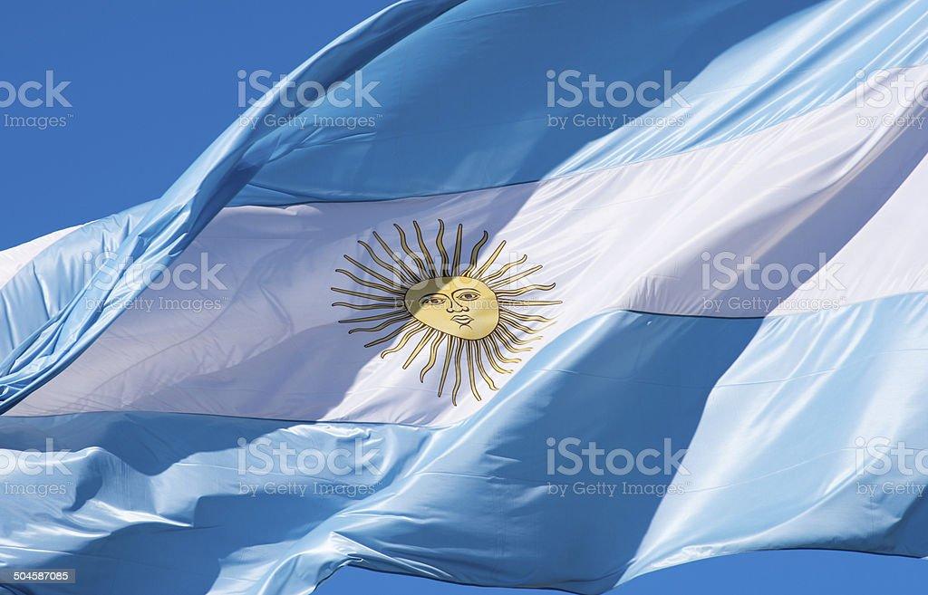 Bandera Argentina stock photo