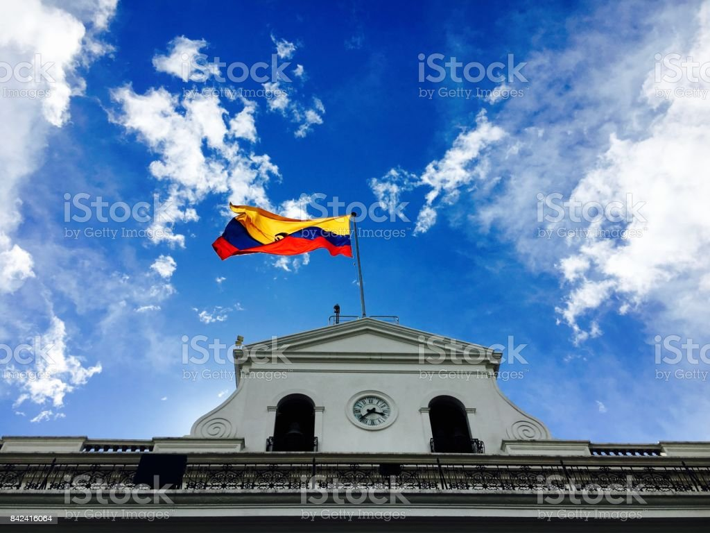 Banderas de Ecuador - foto de stock