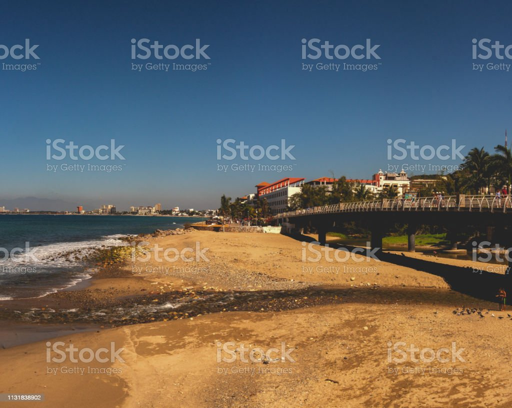 Banderas Beach With A View Of El Malecon Boardwalk The River