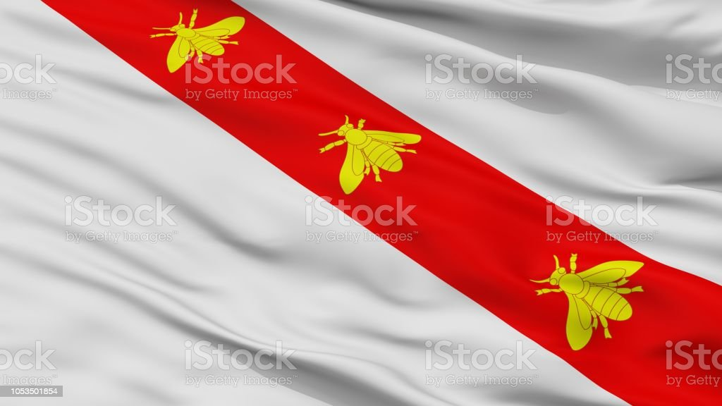 Bandiera Elba Flag Closeup stock photo