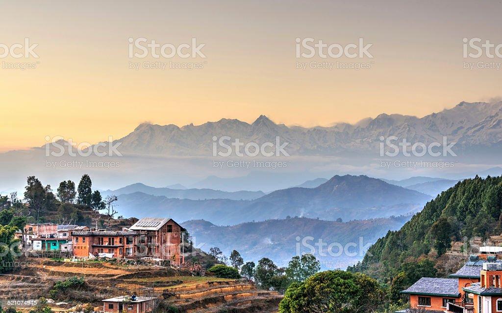 Bandipur village in Nepal stock photo