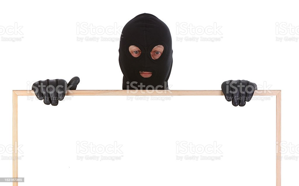 bandit with hollow frame royalty-free stock photo