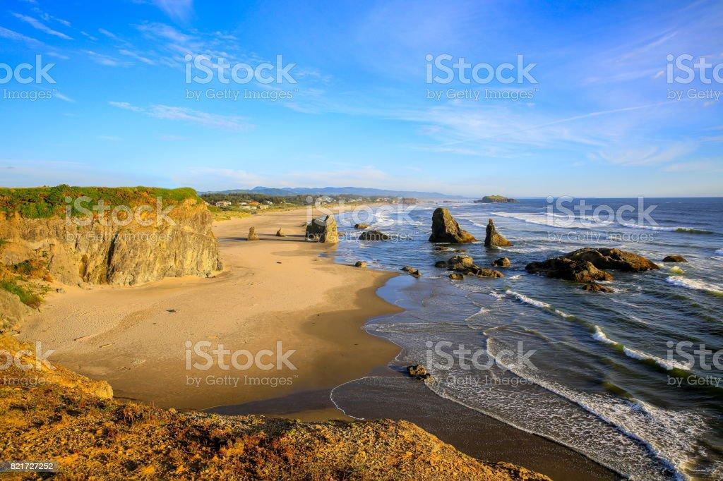 Bandon Beach in Bandon, Oregon stock photo