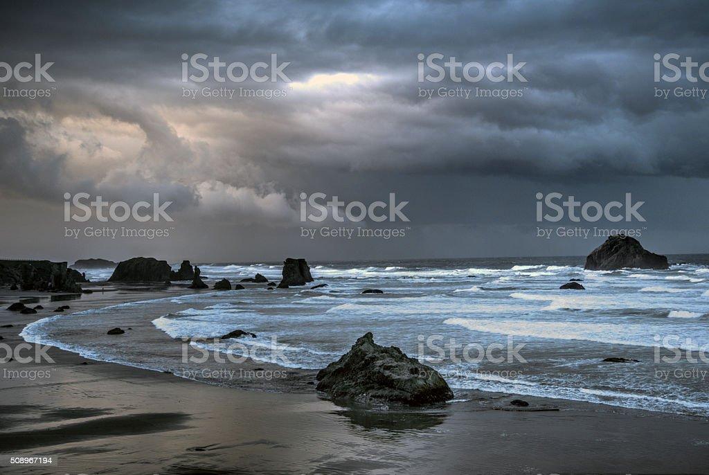 Bandon Beach, OR stock photo