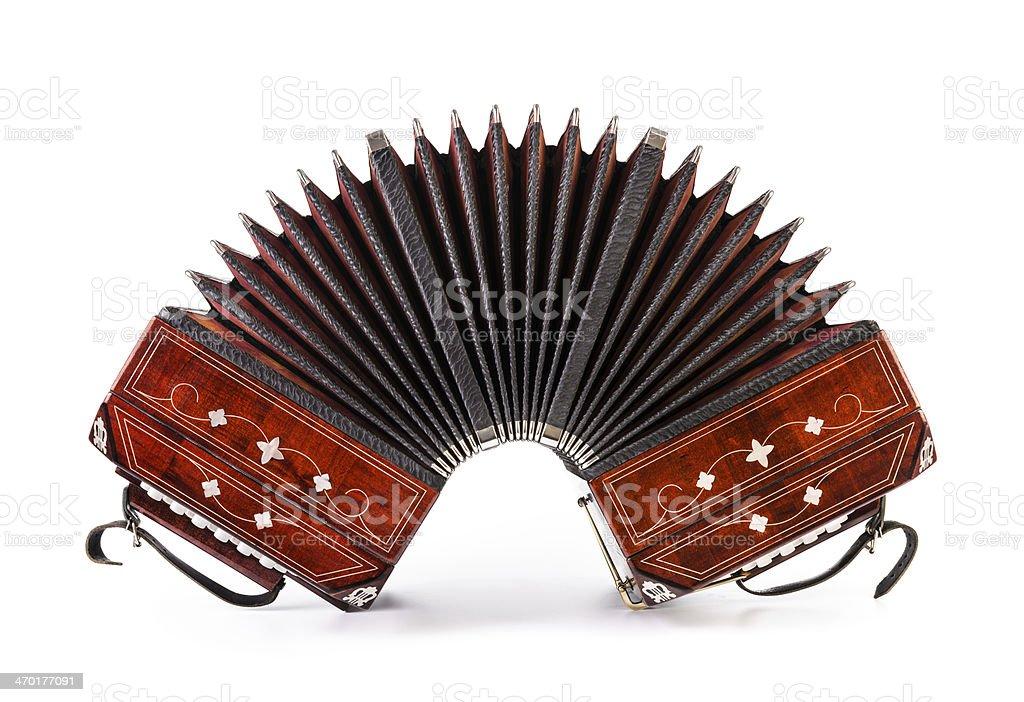 Bandoneon, tango instrumento - foto de stock