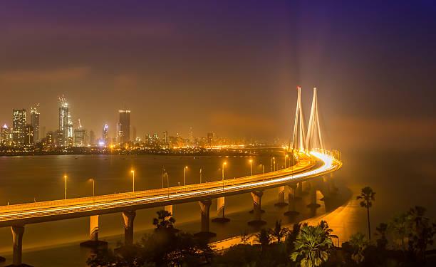 bandra worli sea link (rajiv gandhi sea link), mumbai - mumbai stockfoto's en -beelden