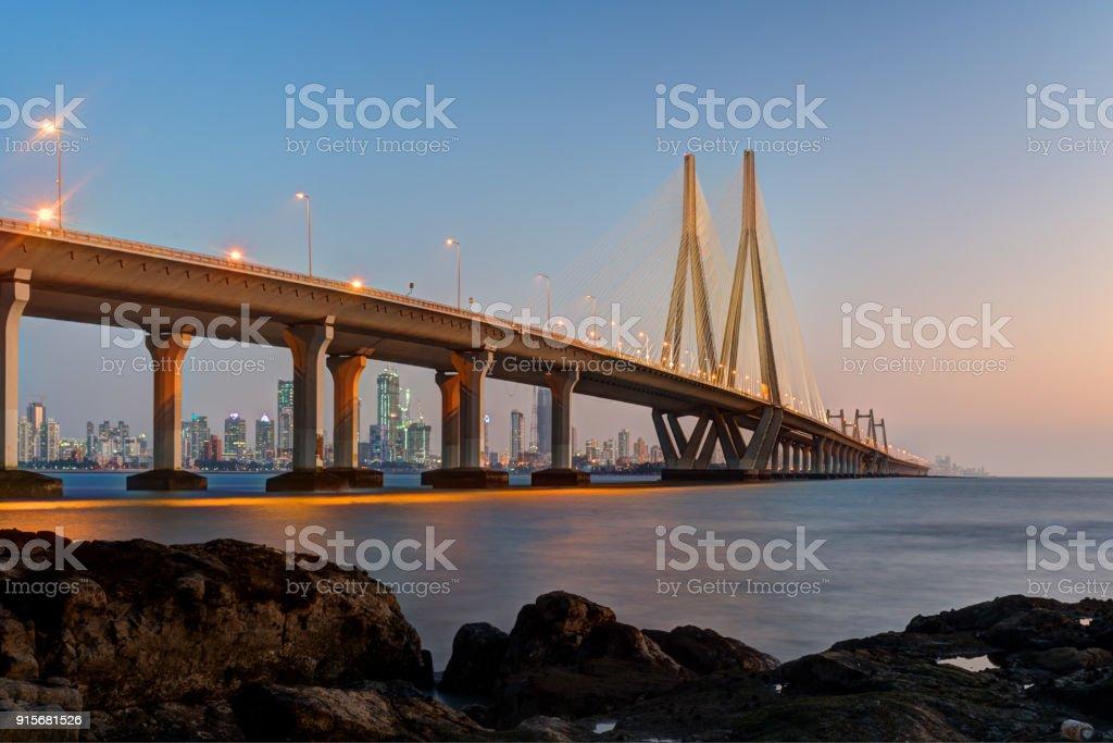Bandra Worli Sea Link Mumbai - foto de stock