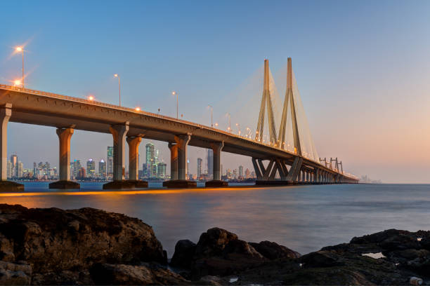 Bandra Worli Sea Link Mumbai stock photo