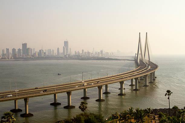 bandra worli sea link - mumbai stockfoto's en -beelden