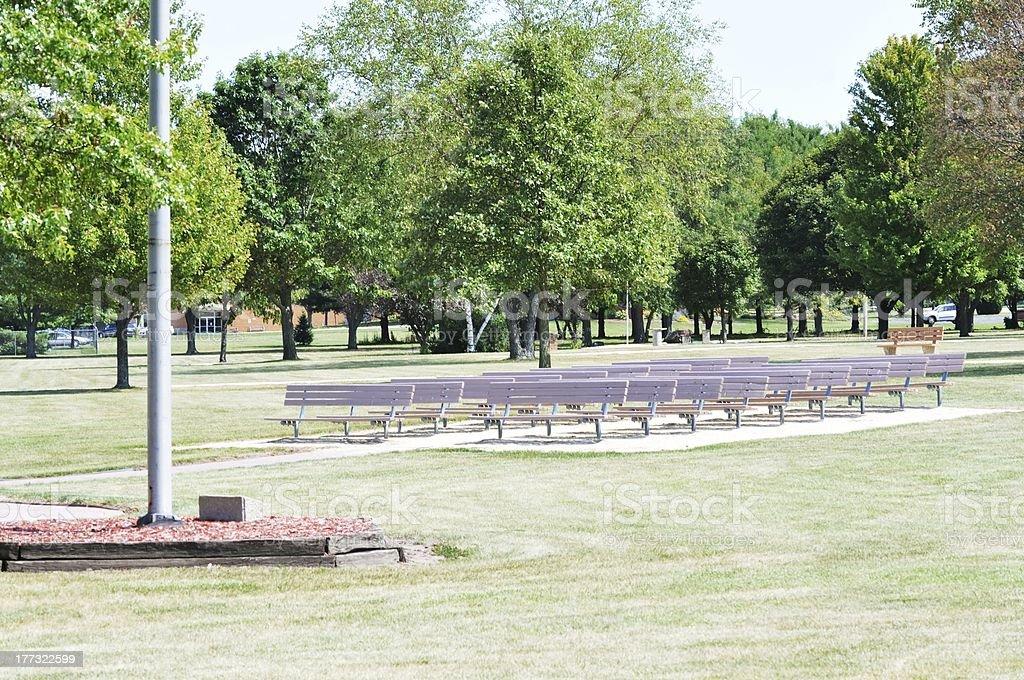 Bandshell Seating royalty-free stock photo