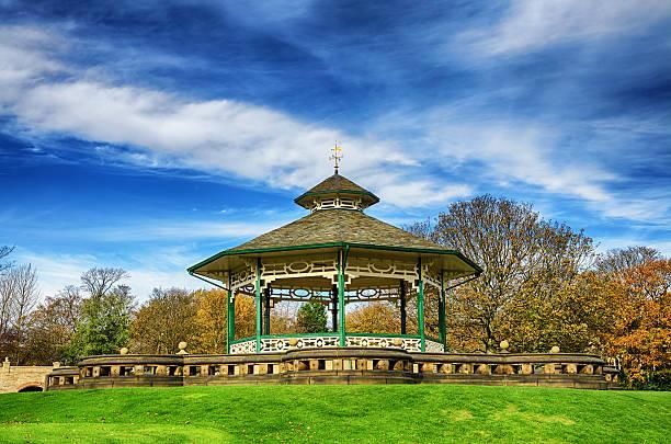 Konzertpavillon in Greenhead park, Huddersfield, Yorkshire, England – Foto