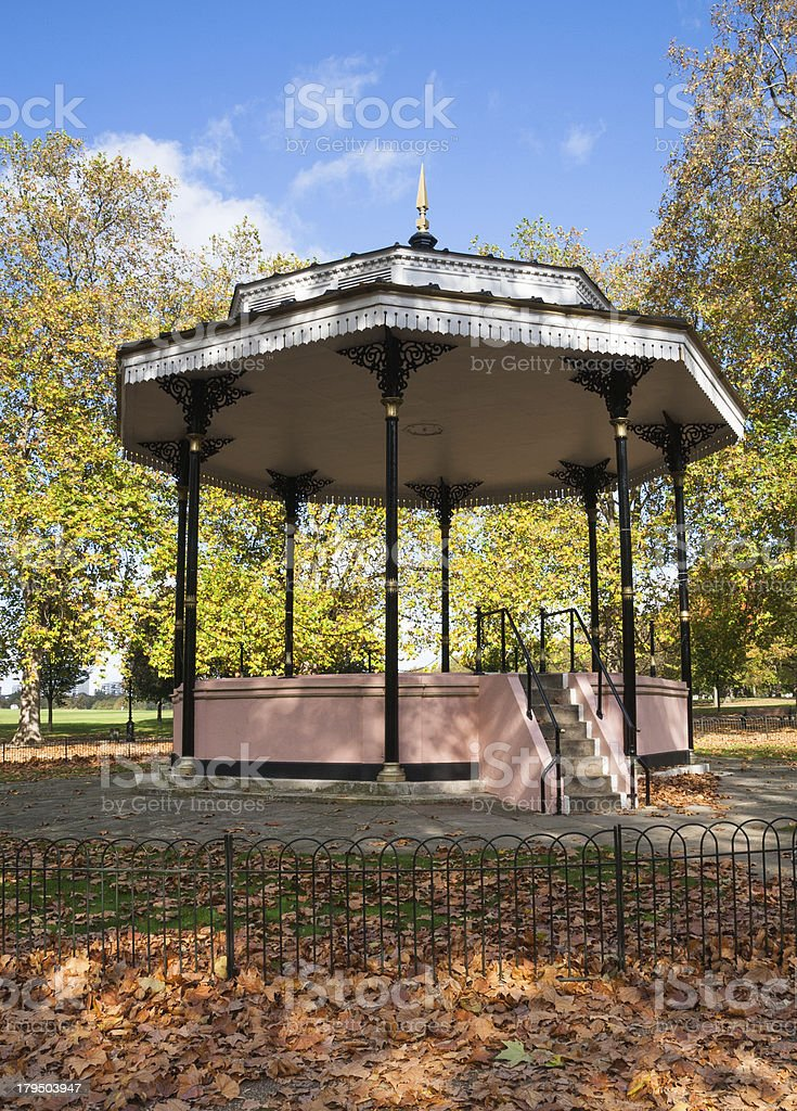 Bandstand in Hyde Park - London, England royalty-free stock photo