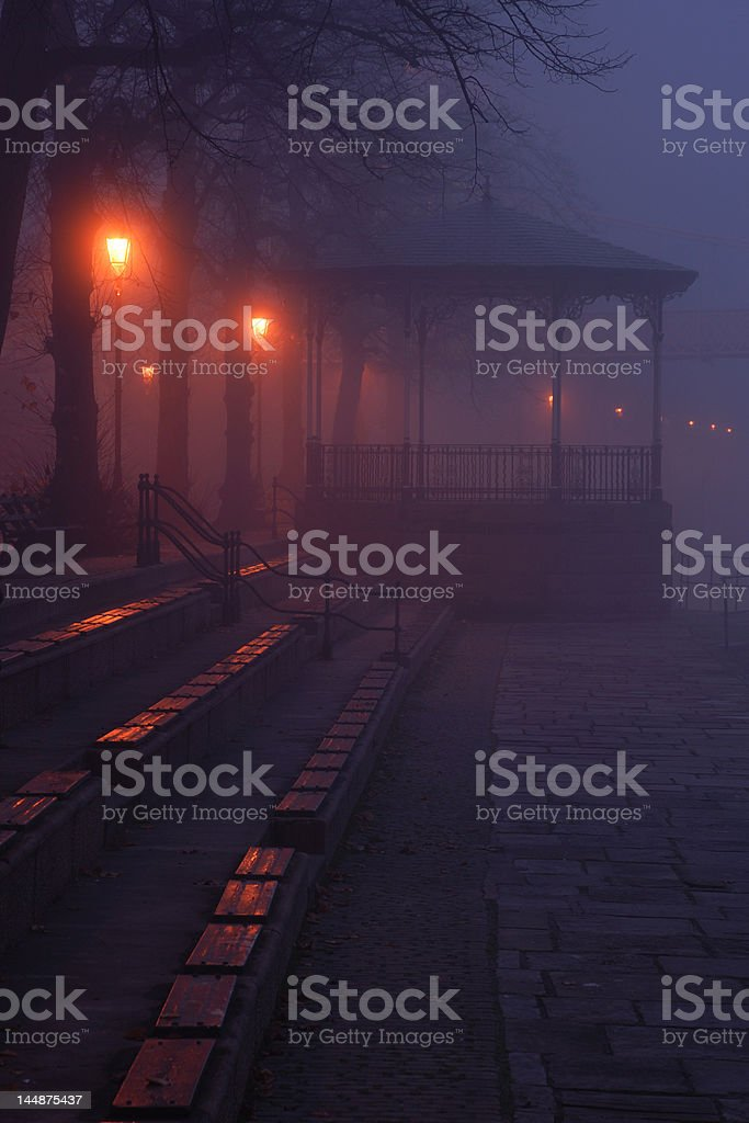 Bandstand in the Fog royalty-free stock photo