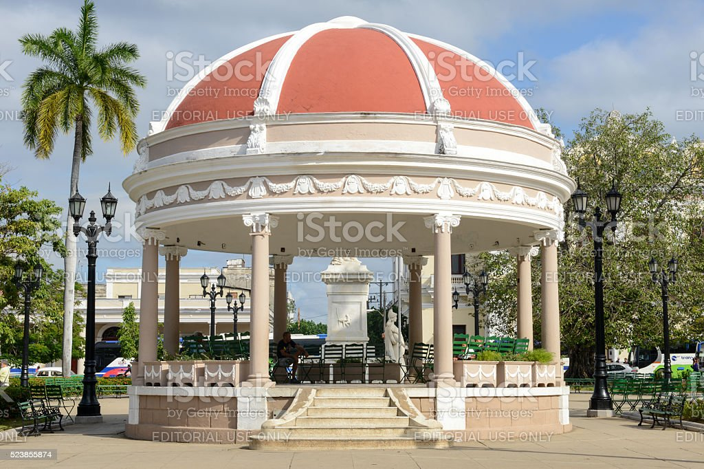 Bandstand in the Plaza Jose Marti at Cienfuego stock photo