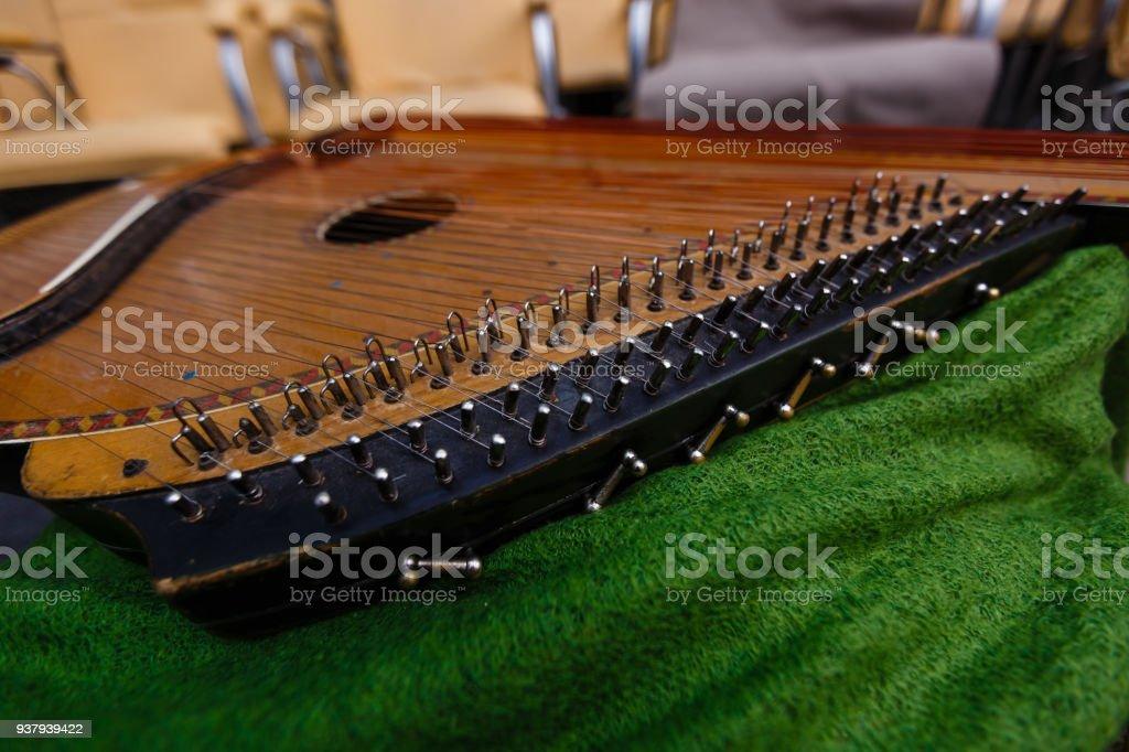bandura close up, Ukrainian musical instrument стоковое фото