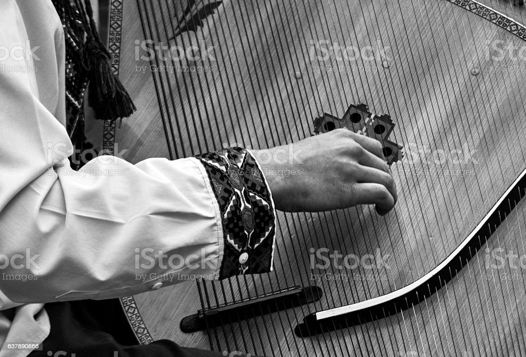 Bandura player стоковое фото