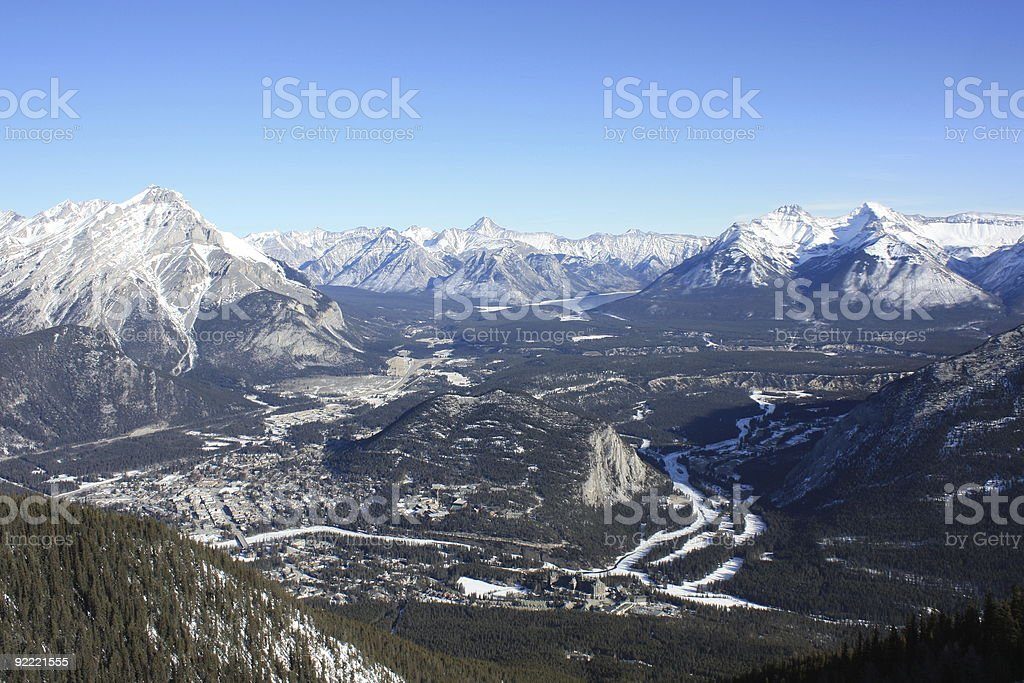 Banff Aerial View royalty-free stock photo