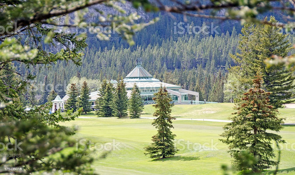 Banff Golf Course Club House ... from the rough. royalty-free stock photo
