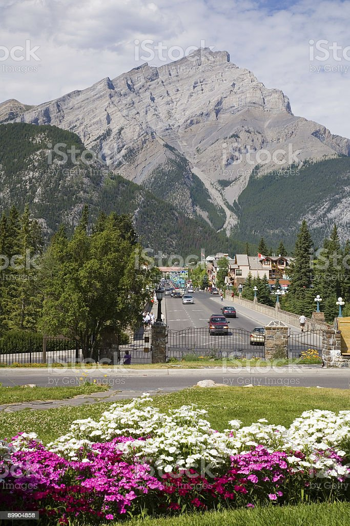 Banff High Street royalty-free stock photo
