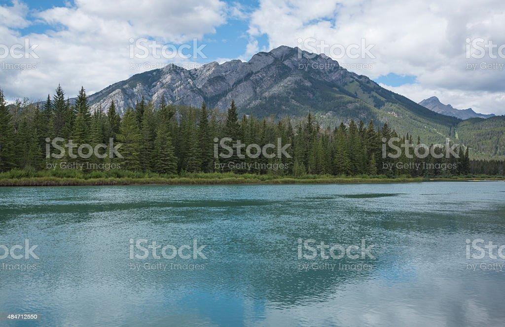 Banff Lake stock photo