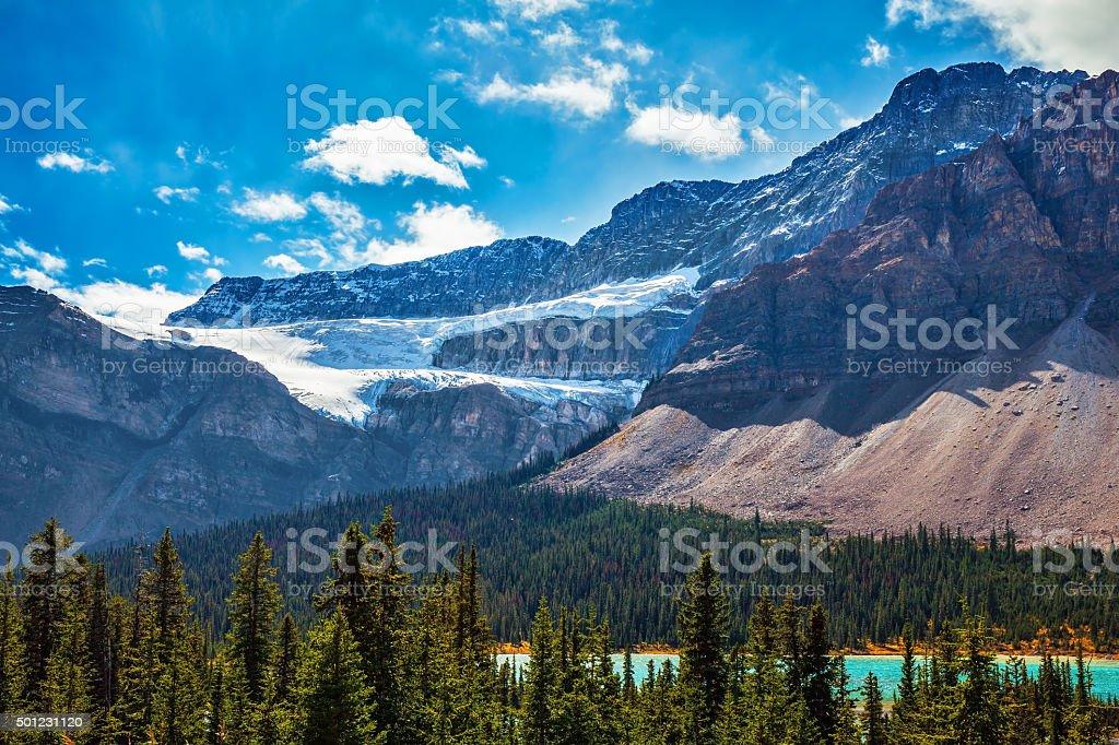 Banff National Park, Glacier Crowfoot stock photo