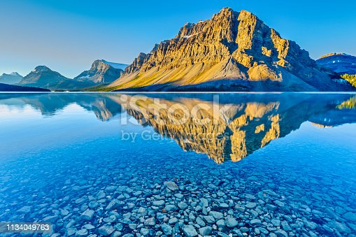 Bow Lake in Banff National Park in the Canadian Rockies