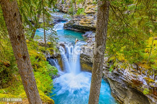 Johnson Canyon in Banff National Park in the Canadian Rockies