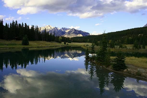 Banff National Park reflection stock photo
