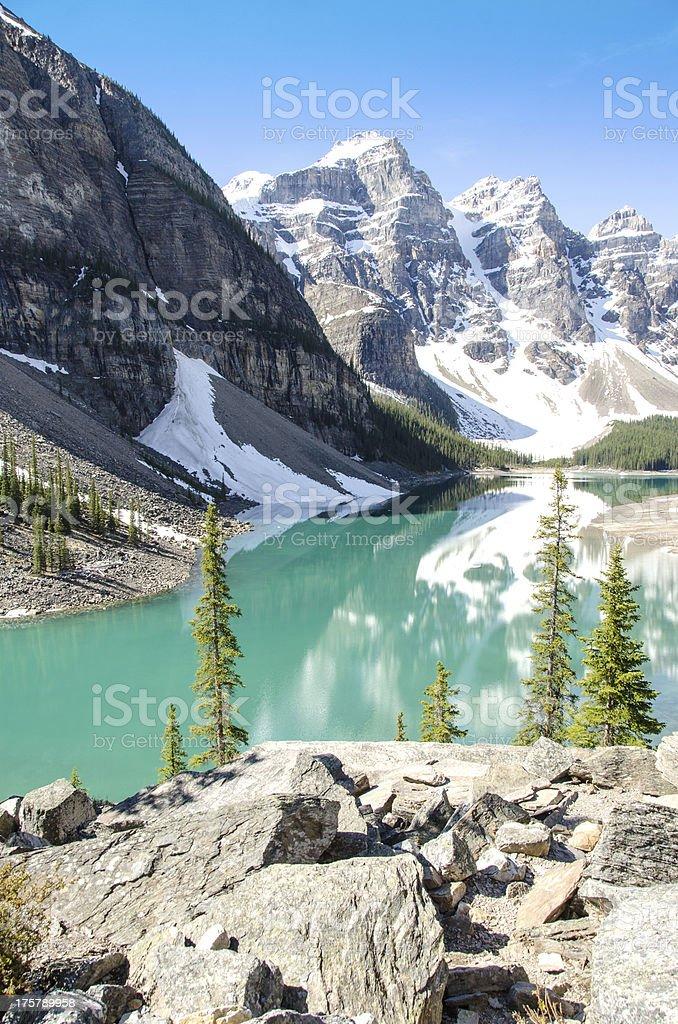 Banff Park Moraine Lake royalty-free stock photo