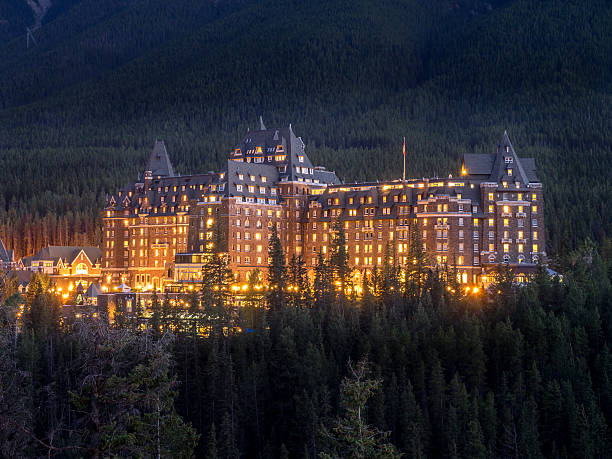 banff springs hotel - banff national park stock photos and pictures