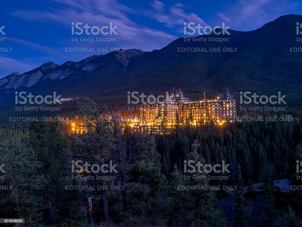 Banff Springs Hotel - foto stock