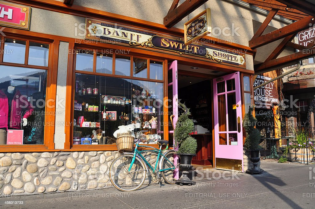 Banff Sweet Shoppe royalty-free stock photo