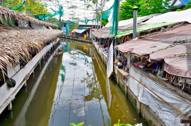 Bang Nam Phueng floating market in Bangkok stock photo