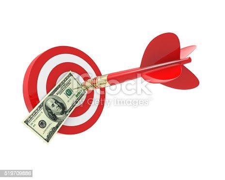 istock Bang on target 100 dollar bills 519709886