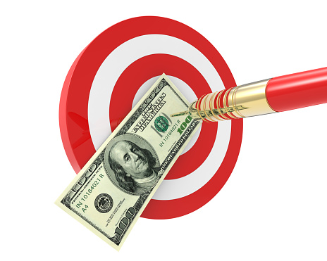 istock Bang on target 100 dollar bills 519710174