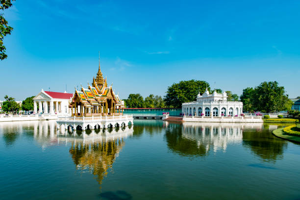 Bang Pa In Royal Temple Palace, Ayutthaya, Thailand stock photo