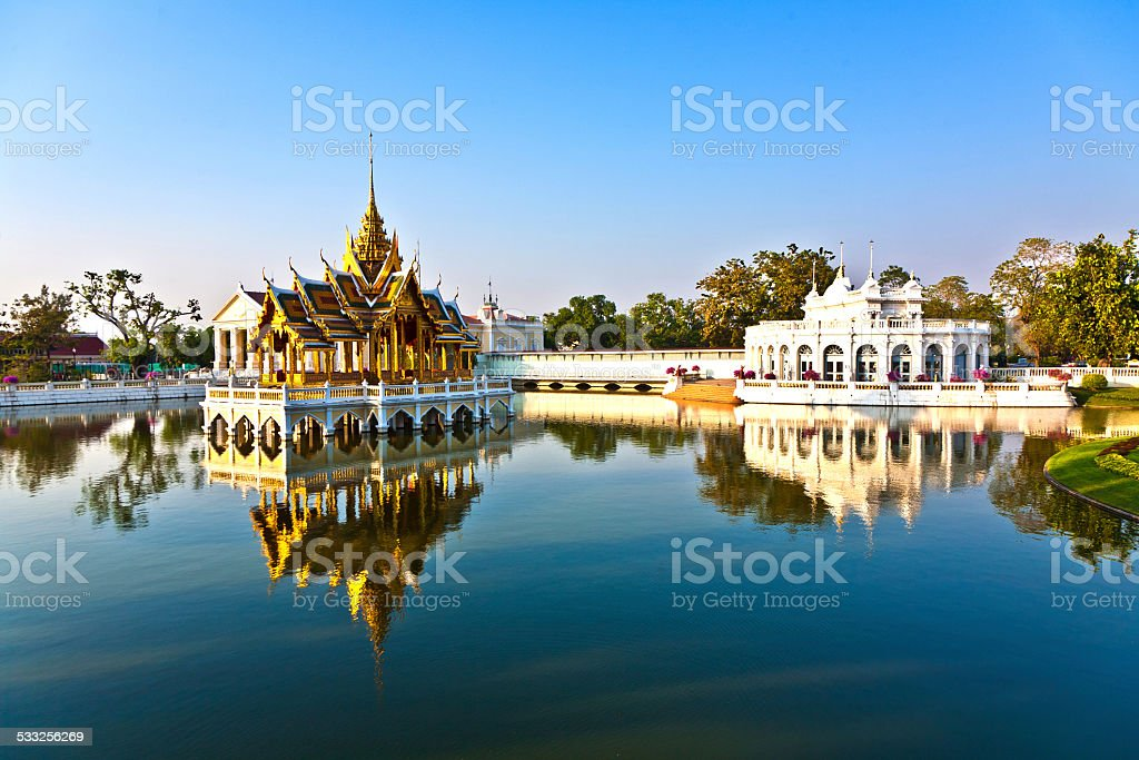 Bang Pa-In Aisawan Thipya-Art (Divine Seat of Personal Freedom) stock photo